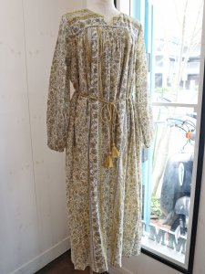 ハンドブロックプリントドレス