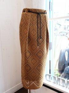【Lallia Mu】レースウェストロープスカート【Made in Japan】