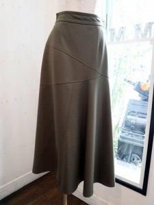 【Lallia Mu】切替ポンチフレアースカート【Made in Japan】