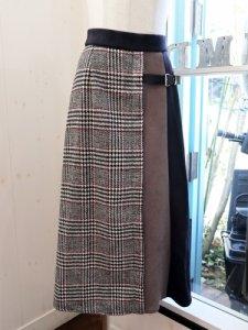 【QTUME】配色ラップ風スカート