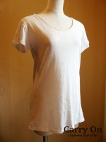 VネックスラブTシャツ