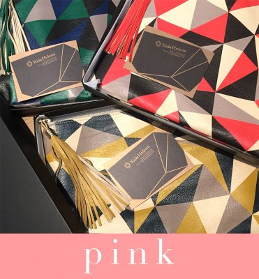 CUBISM clutch pink (BOX付き)