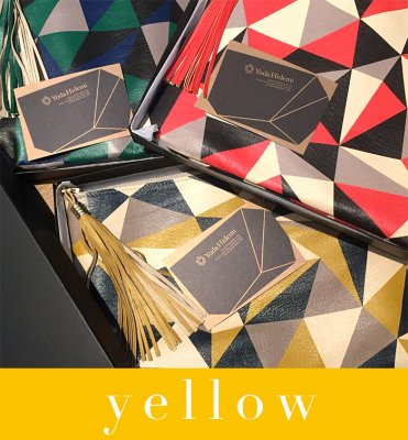 CUBISM clutch yellow (BOX付き)