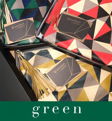 CUBISM clutch green (BOX付き)
