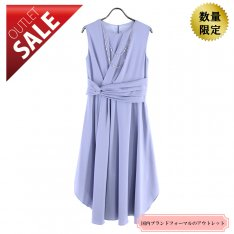 【60%OFF!】結婚式 二次会 ロング ドレス|エレガントミディ丈ドレス9号(ライトブルー)