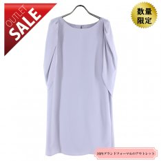 【58%OFF!】Aライン 袖ありドレス 結婚式 二次会 |ケープスリーブAラインドレス9号(ライトグレー)