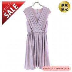【67%OFF!】ひざ丈ドレス 結婚式 二次会 |オーバースカート付カシュクールドレスLサイズ(ピンク)