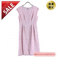 【67%OFF!】ひざ丈ドレス 結婚式 二次会 |オーバースカート付レースドレス9号(ピンク)