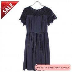 【62%OFF!】結婚式 謝恩会 二次会 ドレス|レースブラックワンピース9号(ブラック)