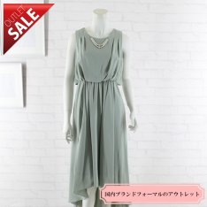 【58%OFF!】ドレス セール 結婚式ドレス 二次会 ロング |テールカットミモレ丈ドレス9号(ミント)