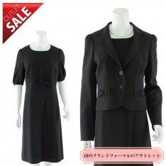 【66%OFF!】ブラックフォーマル 喪服 セール|リボンデザインブラックアンサンブル13号
