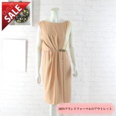 【69%OFF!】日本製 結婚式 二次会 ドレス|バイカラービジューポイントドレス9号(オレンジ)