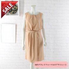 【69%OFF!】日本製 結婚式 二次会 ドレス|ネックビジューミディアムドレス9号(オレンジ)