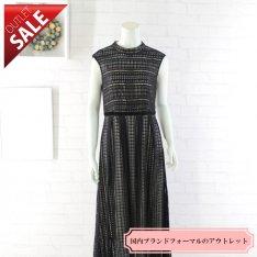 【54%OFF!】結婚式 二次会 ドレス ロング |幾何学ニットレースドレス9号(ブラック)