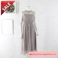 【55%OFF!】結婚式 二次会 ドレス レース |レースミディドレス9号(スモークピンク)