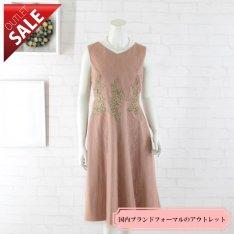 【67%OFF!】結婚式 二次会 ドレス ミディアム|フラワーレースポイントフレアドレス9号(コーラルピンク)