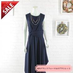 【60%OFF!】結婚式 二次会 ロング ドレス|エレガントミディ丈ドレス3Lサイズ(ネイビー)