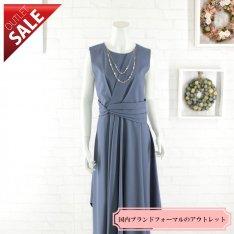 【60%OFF!】結婚式 二次会 ロング ドレス|エレガントミディ丈ドレス3Lサイズ(ブルー)