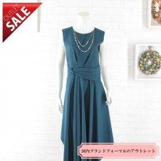 【60%OFF!】結婚式 二次会 ロング ドレス|エレガントミディ丈ドレス3Lサイズ(ダークグリーン)