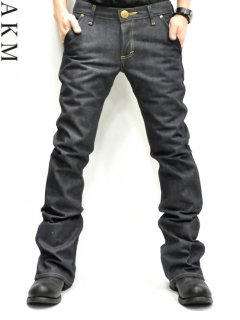 AKM×LEE Bundy Denim Pants (Black Leather)