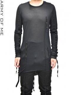 ARMY OF ME Banded Long Sleeve T-Shirt<img class='new_mark_img2' src='//img.shop-pro.jp/img/new/icons8.gif' style='border:none;display:inline;margin:0px;padding:0px;width:auto;' />