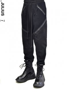 _JULIUS Switching Zip Cargo Pants