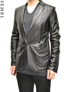 SEMBL Leather Tailored Jacket<img class='new_mark_img2' src='https://img.shop-pro.jp/img/new/icons38.gif' style='border:none;display:inline;margin:0px;padding:0px;width:auto;' />