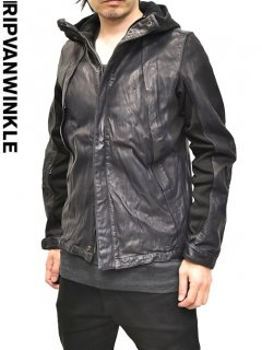 RIPVANWINKLE Leather Mountain Parka