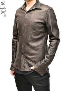 wjk Leather Shirt [d.brown]<img class='new_mark_img2' src='https://img.shop-pro.jp/img/new/icons38.gif' style='border:none;display:inline;margin:0px;padding:0px;width:auto;' />