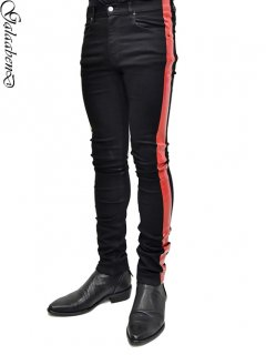 GalaabenD Rubber Side Stripe Skinny [BLACK×DEEP RED]<img class='new_mark_img2' src='https://img.shop-pro.jp/img/new/icons38.gif' style='border:none;display:inline;margin:0px;padding:0px;width:auto;' />