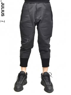 _JULIUS Military Leg Pocket Cropped Pants
