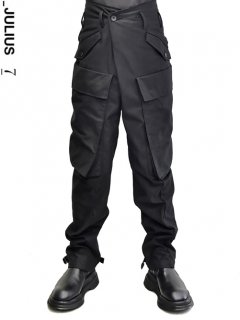 _JULIUS Baggy Cargo Pants -BLACK-