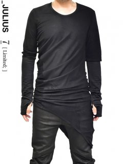 _JULIUS LIMITED W Fusion Layer cut&sewn [BLACK]