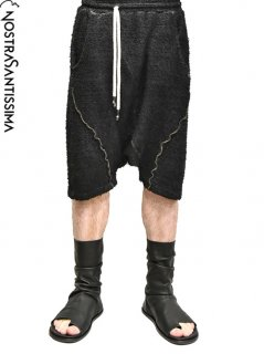 NostraSantissima Deep Crotch short Pants -BLACK-