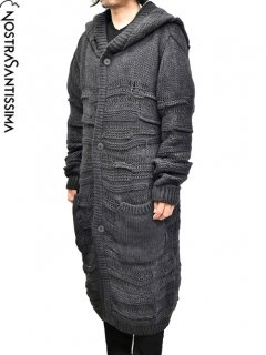 NostraSantissima Long Hooded Knit Coat<img class='new_mark_img2' src='//img.shop-pro.jp/img/new/icons8.gif' style='border:none;display:inline;margin:0px;padding:0px;width:auto;' />