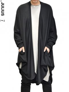 _JULIUS Vartical Drape Cardigan -BLACK-<img class='new_mark_img2' src='https://img.shop-pro.jp/img/new/icons8.gif' style='border:none;display:inline;margin:0px;padding:0px;width:auto;' />