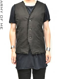 ARMY OF ME RAW LINEN BLEND VEST