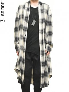 _JULIUS Flannel Gown Shirt -BE x BK- <img class='new_mark_img2' src='https://img.shop-pro.jp/img/new/icons8.gif' style='border:none;display:inline;margin:0px;padding:0px;width:auto;' />
