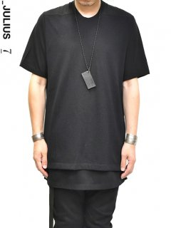 _JULIUS Front Mesh Layer T-Shirt -BLACK-<img class='new_mark_img2' src='//img.shop-pro.jp/img/new/icons8.gif' style='border:none;display:inline;margin:0px;padding:0px;width:auto;' />