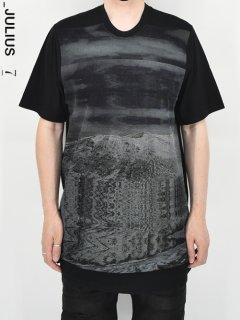 _JULIUS Avalanche Mesh Print T-Shirt