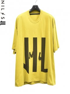 NILøS×Jesse Draxler Kamon Print T Shirt -MUSTARD-<img class='new_mark_img2' src='https://img.shop-pro.jp/img/new/icons8.gif' style='border:none;display:inline;margin:0px;padding:0px;width:auto;' />