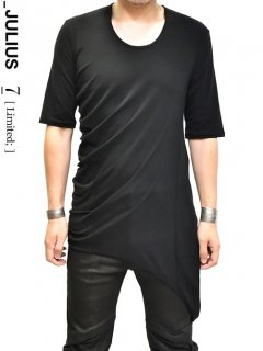 _JULIUS LIMITED Suspend Shirring cut&sewn [BLACK]<img class='new_mark_img2' src='//img.shop-pro.jp/img/new/icons8.gif' style='border:none;display:inline;margin:0px;padding:0px;width:auto;' />