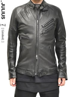 _JULIUS LIMITED Leather Military Riders Jacket
