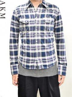 AKM×WRANGLER Check Western Shirt<img class='new_mark_img2' src='https://img.shop-pro.jp/img/new/icons38.gif' style='border:none;display:inline;margin:0px;padding:0px;width:auto;' />