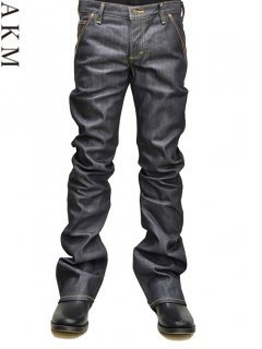 AKM×LEE Bundy Denim Pants (Brown Leather)