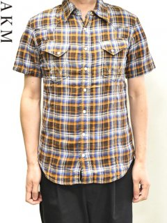 AKM×WRANGLER Check Western Shirt S/S<img class='new_mark_img2' src='//img.shop-pro.jp/img/new/icons20.gif' style='border:none;display:inline;margin:0px;padding:0px;width:auto;' />