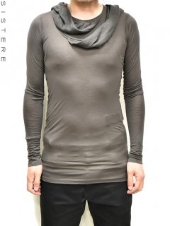 S/STERE Layered Neck Hood L/S T-Shirt<img class='new_mark_img2' src='https://img.shop-pro.jp/img/new/icons38.gif' style='border:none;display:inline;margin:0px;padding:0px;width:auto;' />