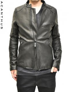 ACANTHUS Leather Riders Jacket [Vintage processing]