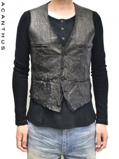 ACANTHUS Leather Bonding Gillet <img class='new_mark_img2' src='//img.shop-pro.jp/img/new/icons38.gif' style='border:none;display:inline;margin:0px;padding:0px;width:auto;' />