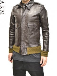 AKM A-2 Leather Jacket <img class='new_mark_img2' src='https://img.shop-pro.jp/img/new/icons38.gif' style='border:none;display:inline;margin:0px;padding:0px;width:auto;' />
